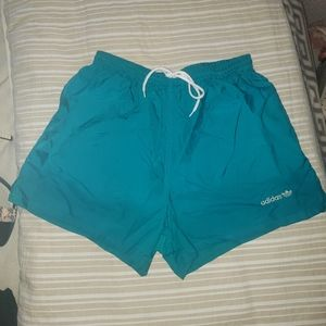 Turquoise Adidas Running Shorts